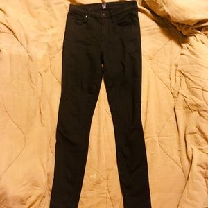GAP Jeans - Gap Size 27 Tall High Waisted Black Skinny Jeans